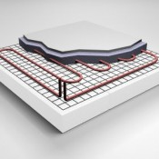 An advantage of Underfloor Heating is that the water temperature is lower than that circulated through a radiator system